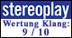 Stereoplay - Wertung Klang: 9/10