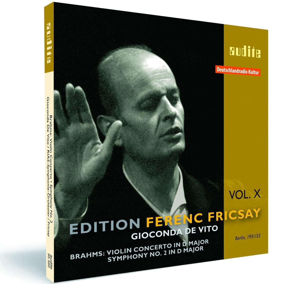 Edition Ferenc Fricsay (X) – J. Brahms: Violin Concerto & Symphony No. 2