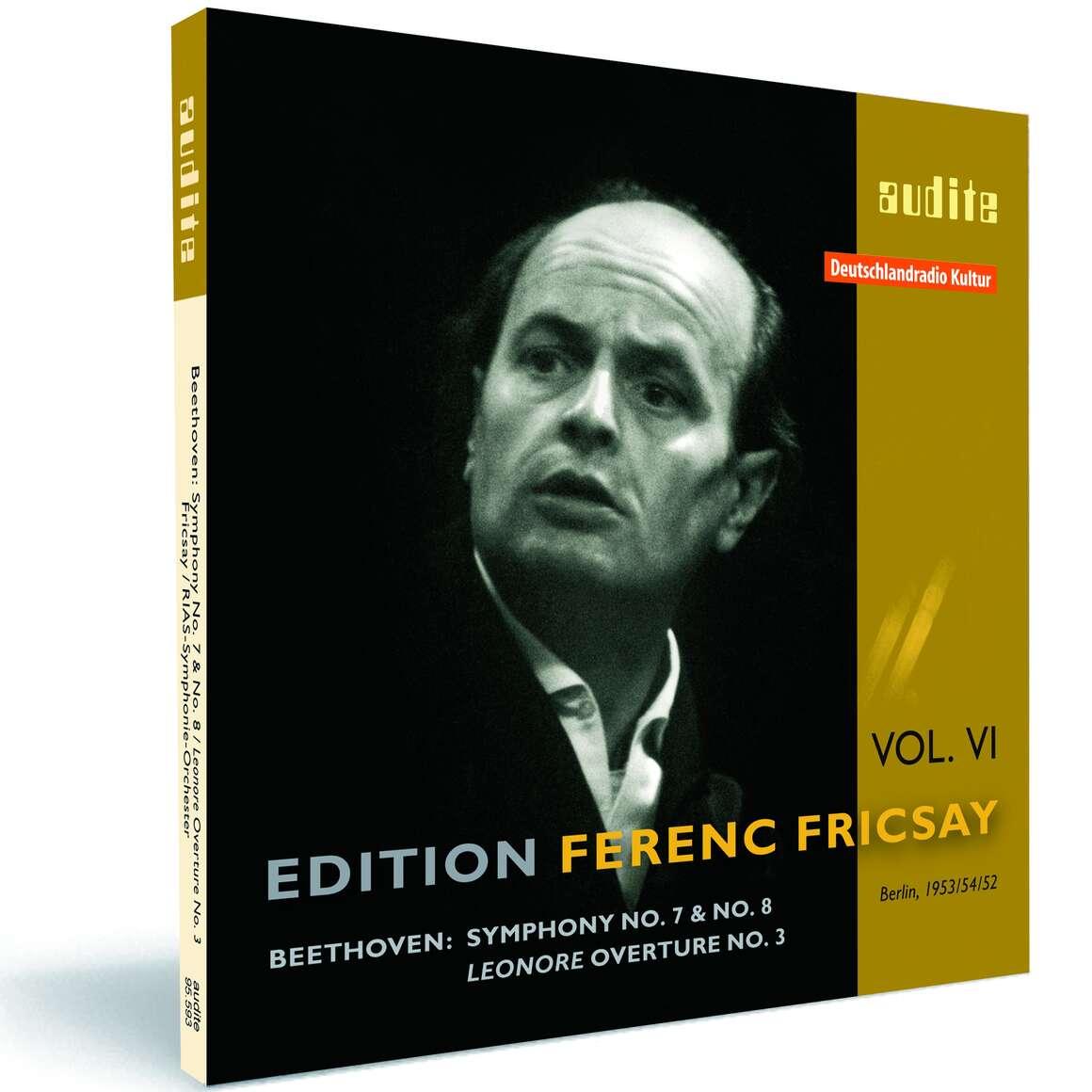 Edition Ferenc Fricsay (VI) – L. v. Beethoven: Symphonies No. 7 & No. 8, Leonore Ouverture No. 3