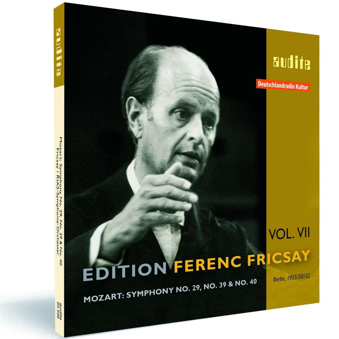 Edition Ferenc Fricsay (VII) – W.A. Mozart: Symphony No. 29, No. 39 & No. 40