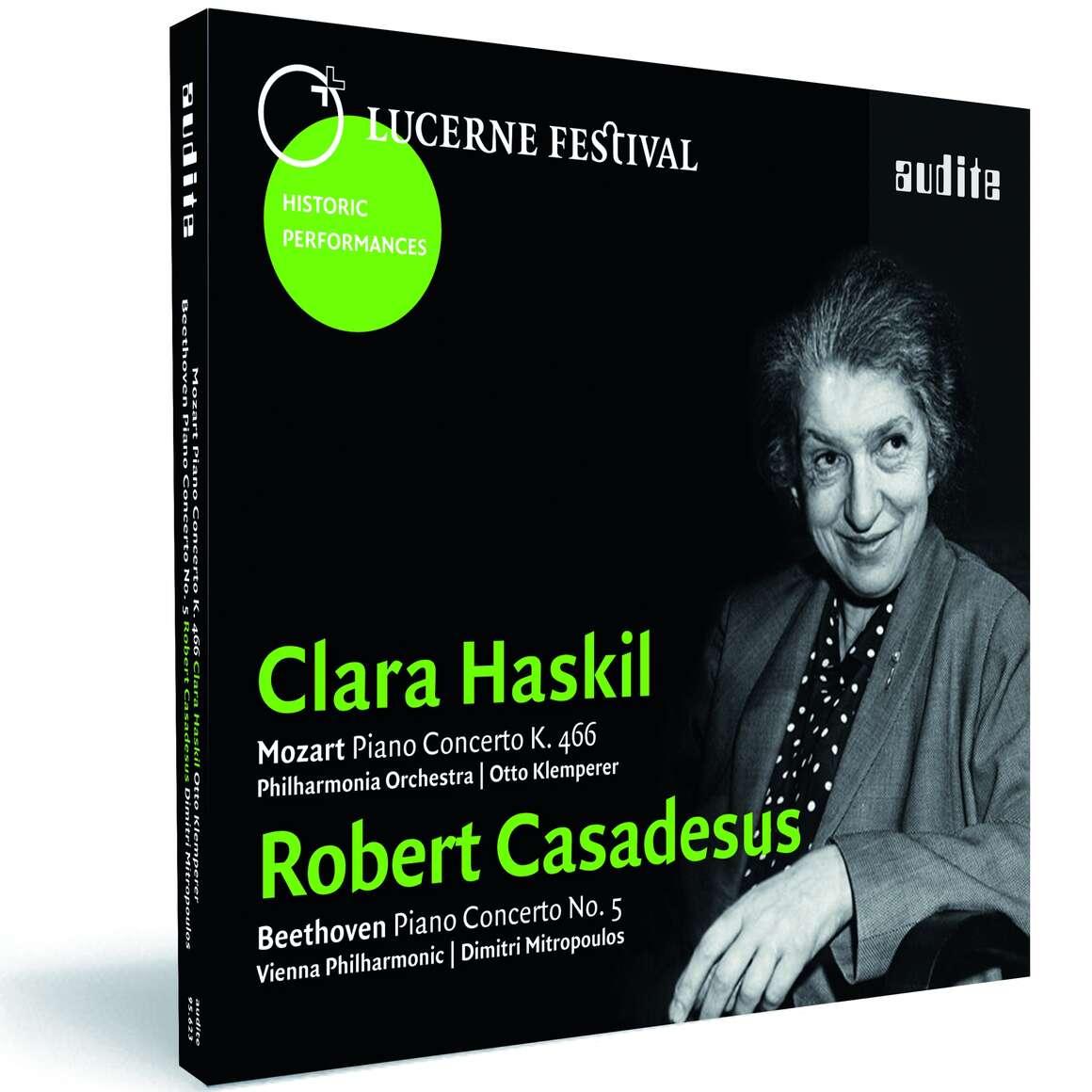 Clara Haskil plays Mozart: Piano Concerto K. 466 - Robert Casadesus plays Beethoven: Piano Concerto No. 5