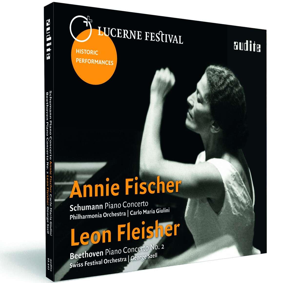 Annie Fischer plays Schumann: Piano Concerto, Op. 54 - Leon Fleisher plays Beethoven: Piano Concerto No. 2