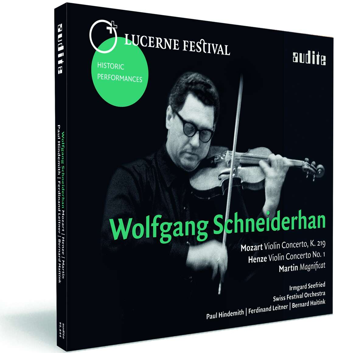 Wolfgang Schneiderhan plays Mozart, Henze & Martin