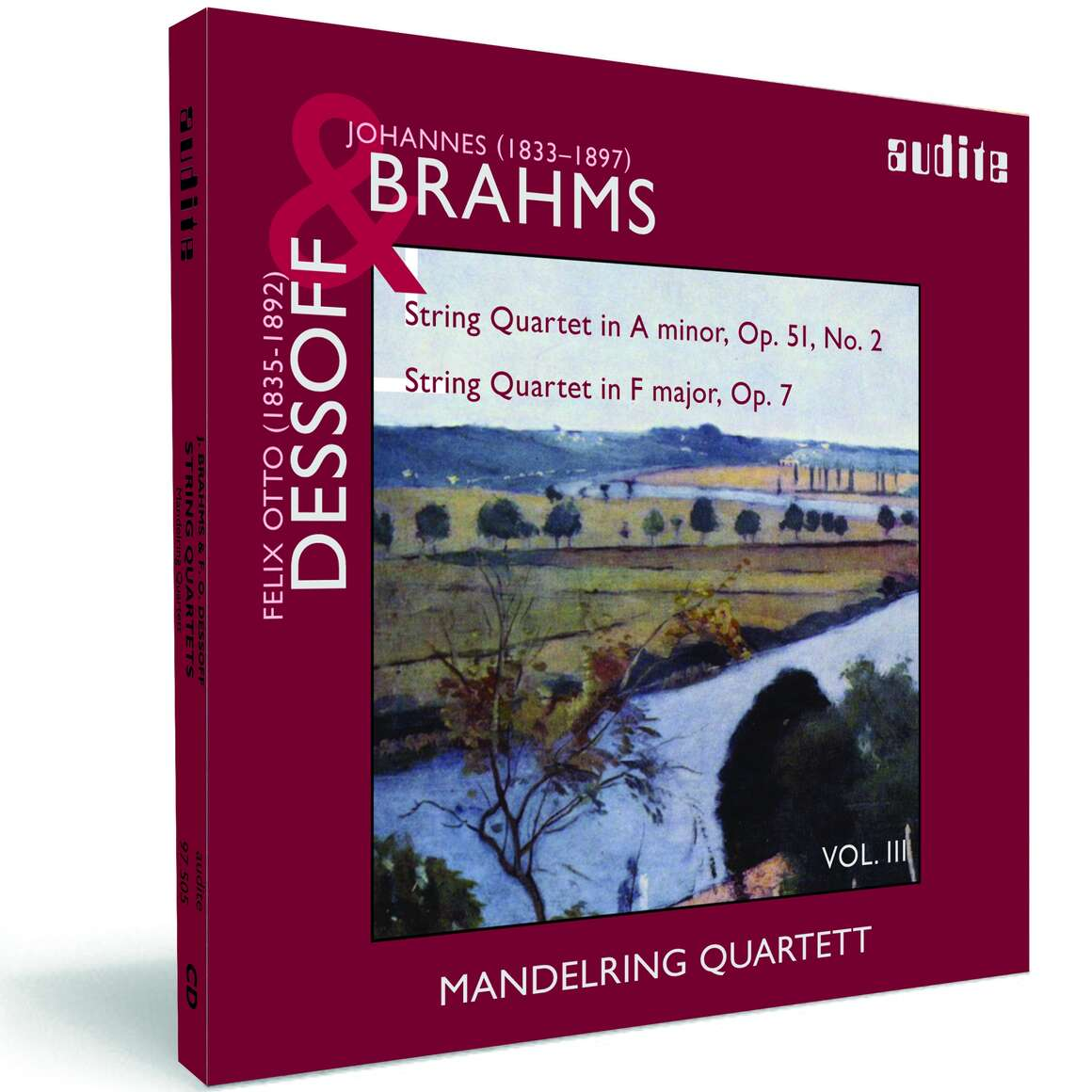 String Quartets by Brahms (Op. 51, No. 2) & Dessoff (Op. 7)
